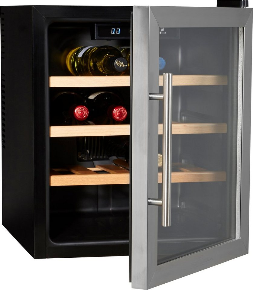 ProfiCook Weinkühlschrank 46L PC-WC 1047, für 16 Bordeauxflaschen á 0,75l in schwarz
