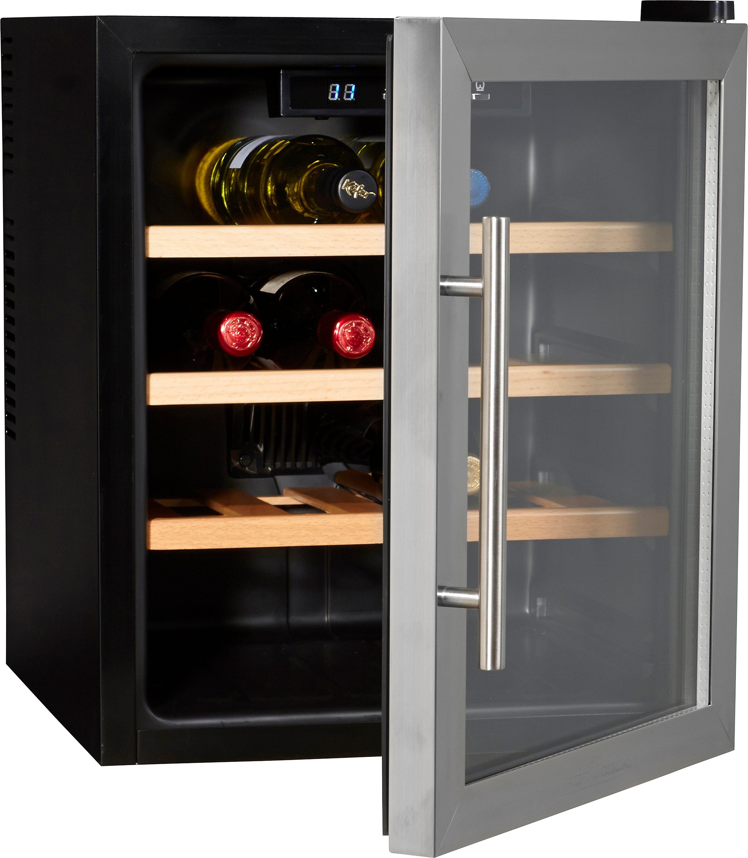 ProfiCook Weinkühlschrank 46L PC-WC 1047, für 16 Bordeauxflaschen á 0,75l