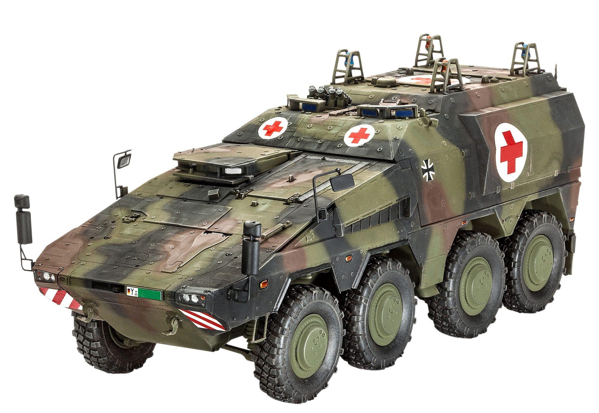 Revell® Modellbausatz Transportfahrzeug, »GTKBoxer sgSanKfz«