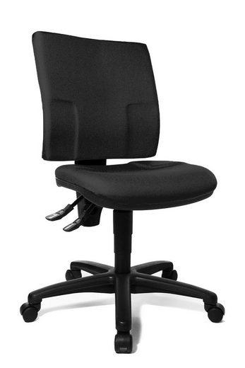 Lüllmann Drehstuhl »Büro-Drehstuhl 1030 x 460 x 450 mm Bürostuhl Bürodrehstuhl Bandscheiben Schreibtischstuhl«, - Bürodrehstuhl mit Rückenlehne und Muldensitz aus Formschaum - Sitz- und Rückenlehnenhöhe stufenlos verstellbar