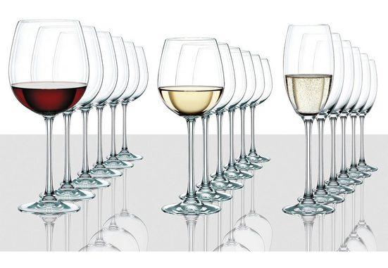 Nachtmann Gläser-Set »Vivendi Premium« (18-tlg), Kristallglas