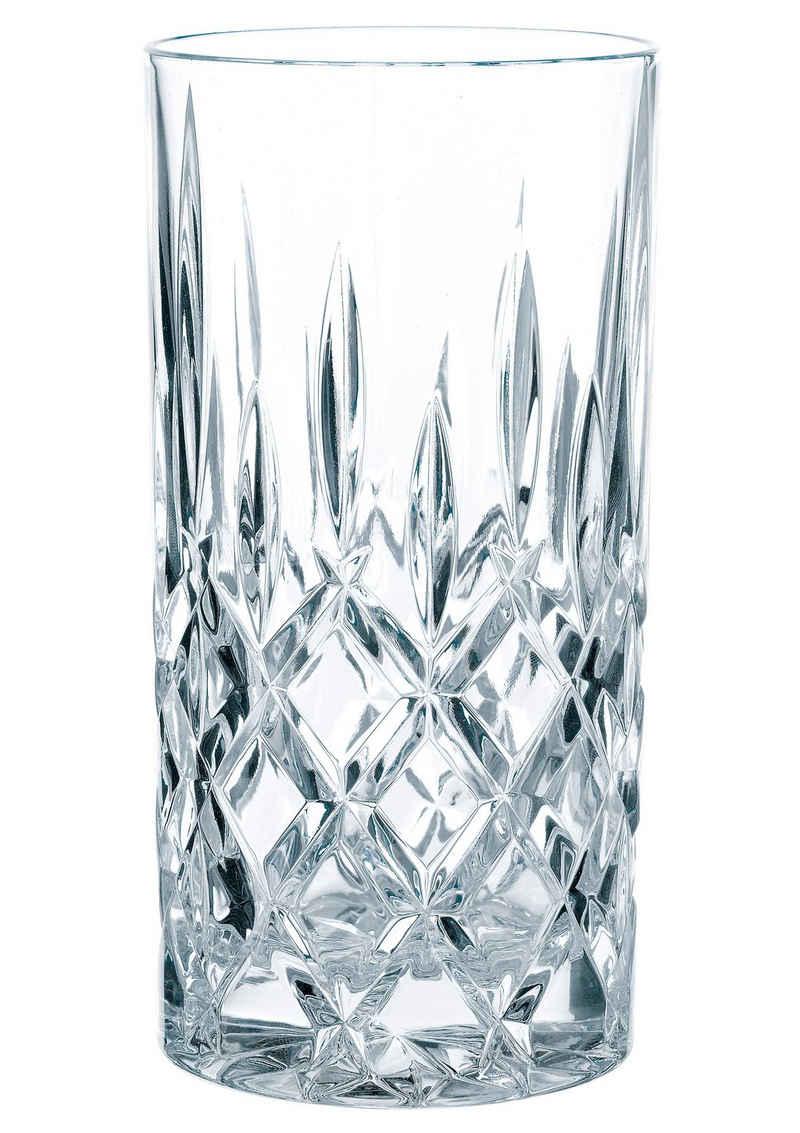 Nachtmann Longdrinkglas »Noblesse«, Kristallglas, mit edlem Schliff, 4-teilig