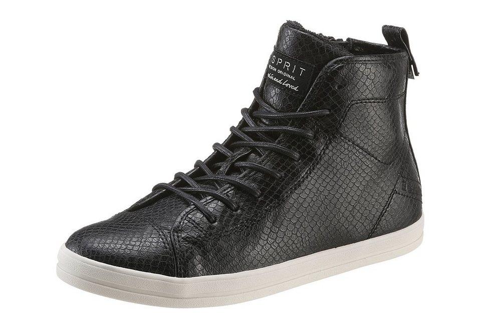 Esprit Sneaker im Metallic-Look in schwarz