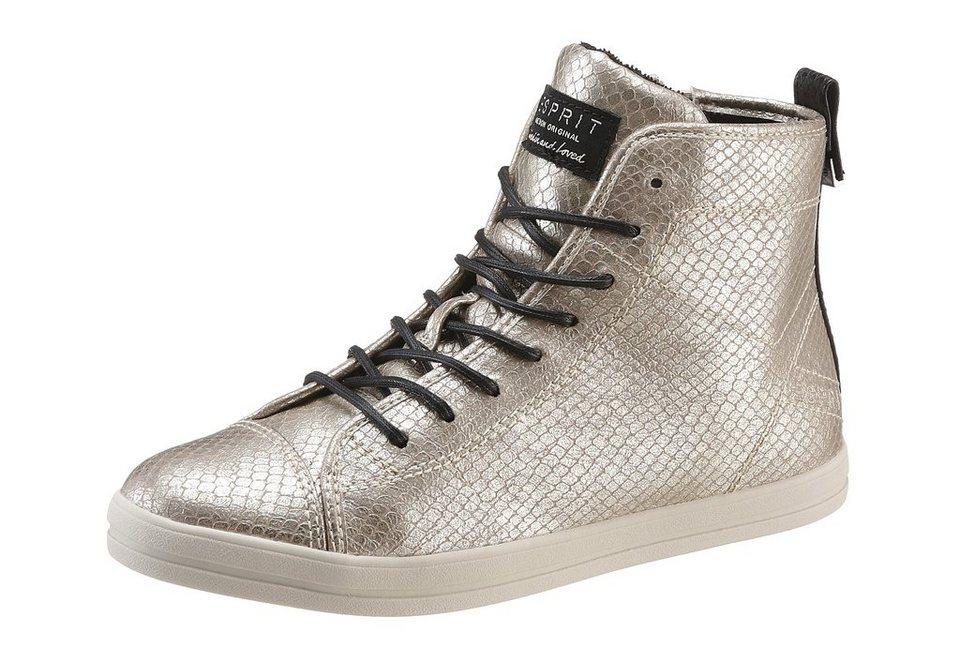 Esprit Sneaker im Metallic-Look in goldfarben