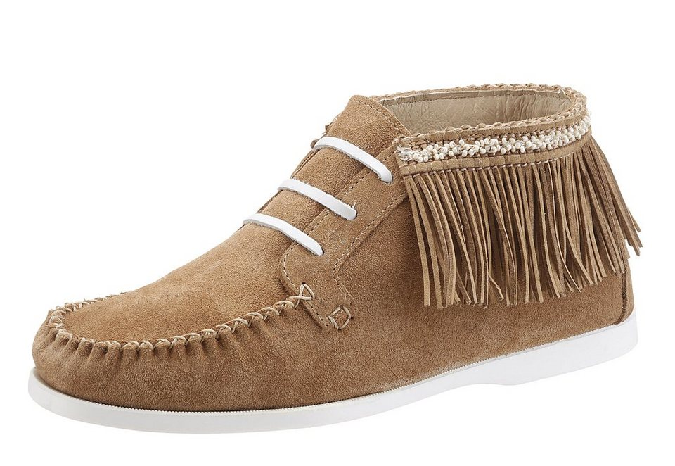 Arizona Boots im Indianer-Look mit Fransen in cognac