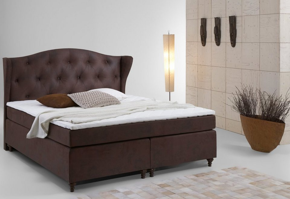 home affaire boxspring bett felix online kaufen otto. Black Bedroom Furniture Sets. Home Design Ideas