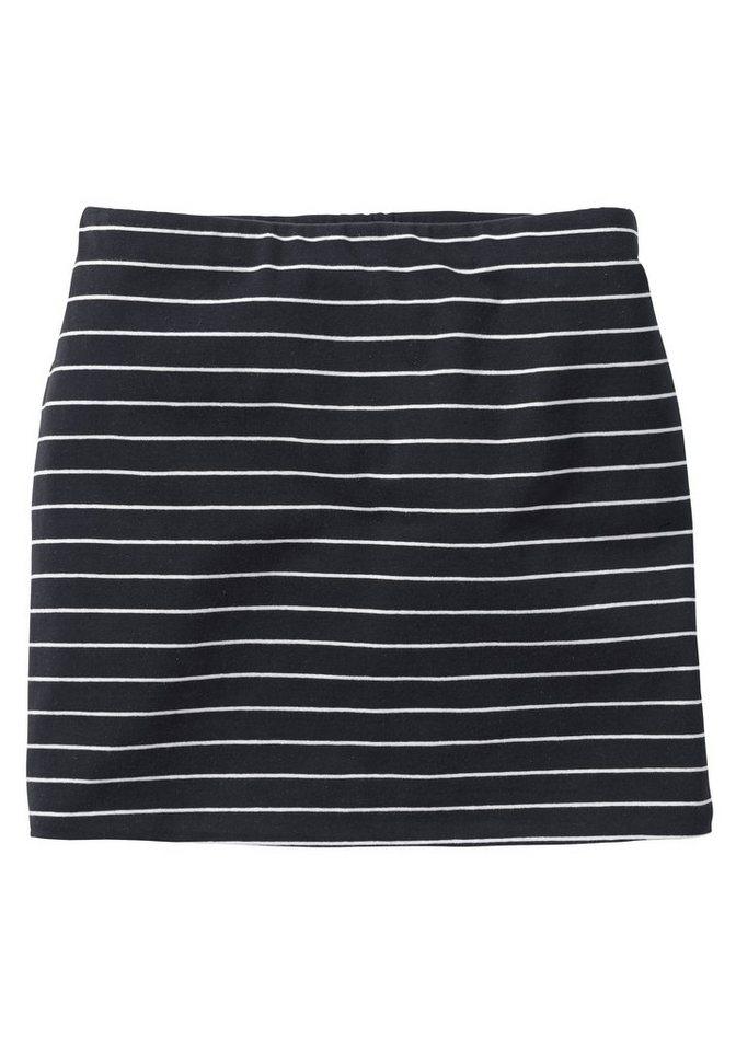 sheego Casual Shirt-Verlängerung in schwarz-weiß