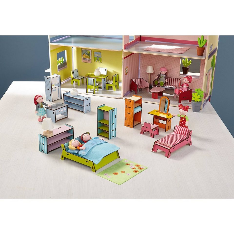 haba 300511 puppenhaus little friends m bel villa sonnenschein online kaufen otto. Black Bedroom Furniture Sets. Home Design Ideas