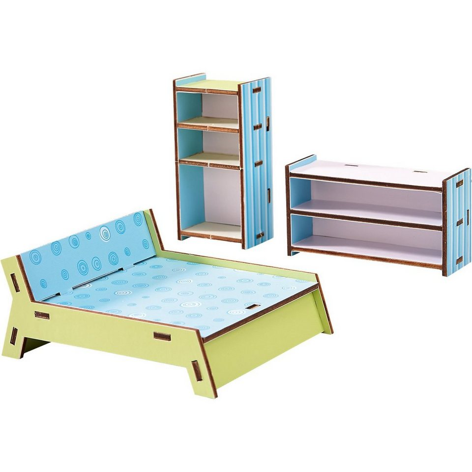 haba 300506 puppenhaus little friends m bel schlafzimmer. Black Bedroom Furniture Sets. Home Design Ideas