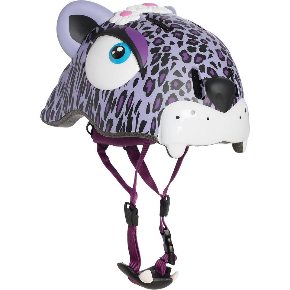 Crazy Safety Fahrradhelm Purple Leopard