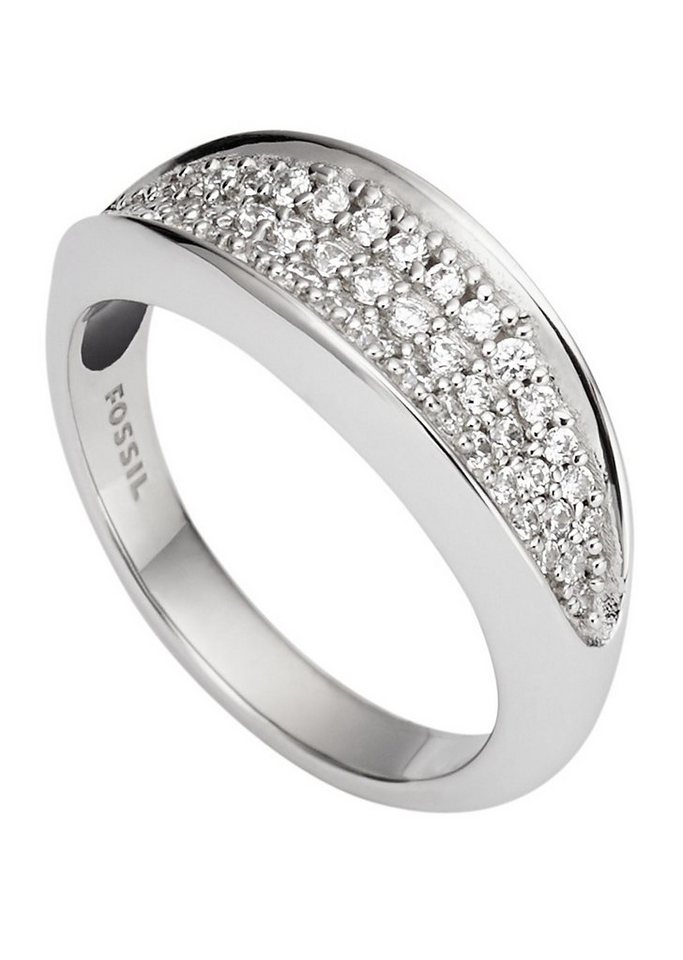 Fossil Ring mit Zirkonia, »Sterling Silver, JFS00366040« in Silber 925