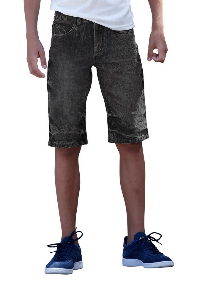Buffalo Jeansbermudas in black-used-moonwashed