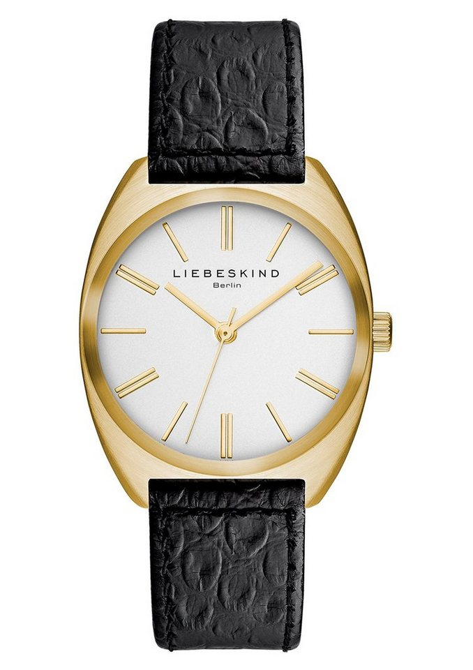 Liebeskind Berlin Armbanduhr, »BRAND NEW SNAKE, LT-0015-LQ« in schwarz