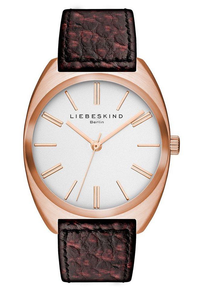 Liebeskind Berlin Armbanduhr, »BRAND NEW SNAKE, LT-0009-LQ« in braun