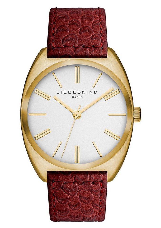 Liebeskind Berlin Armbanduhr, »BRAND NEW SNAKE, LT-0012-LQ« in rot