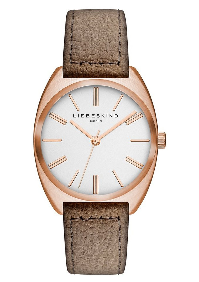 Liebeskind Berlin Armbanduhr, »NUBUK, LT-0019-LQ« in taube