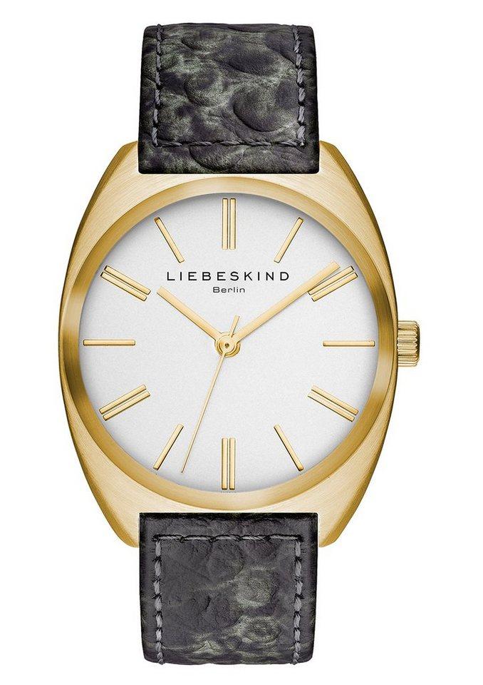 Liebeskind Berlin Armbanduhr, »BRAND NEW SNAKE, LT-0013-LQ« in grau