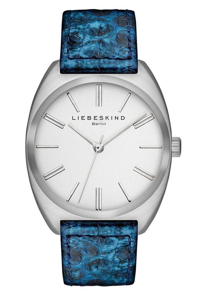 Liebeskind Berlin Armbanduhr, »BRAND NEW SNAKE, LT-0011-LQ« in blau