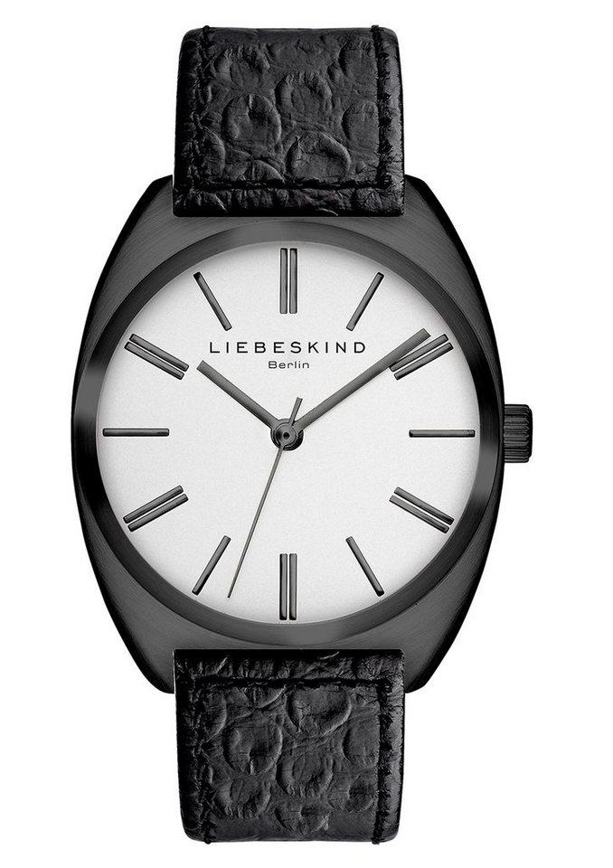 Liebeskind Berlin Armbanduhr, »BRAND NEW SNAKE, LT-0010-LQ« in schwarz