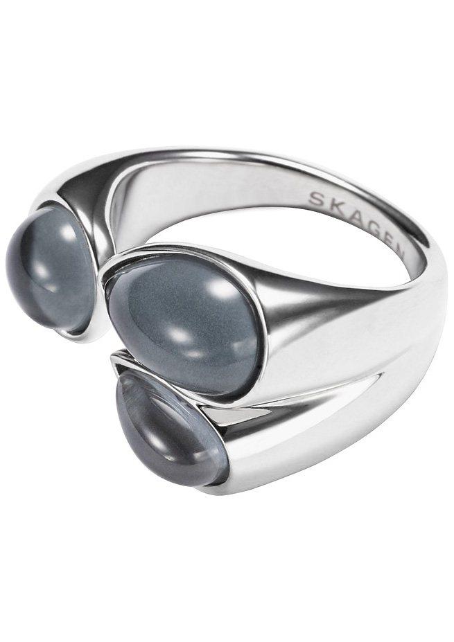 Skagen Ring mit Glassteinen, »Sea Glass, SKJ0771040« in silberfarben/blau