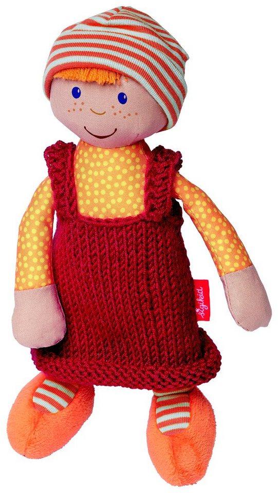 sigikid® Puppe mit Strickkleid, orange/rot, »Sigidolly - Meine erste Puppe« in rot