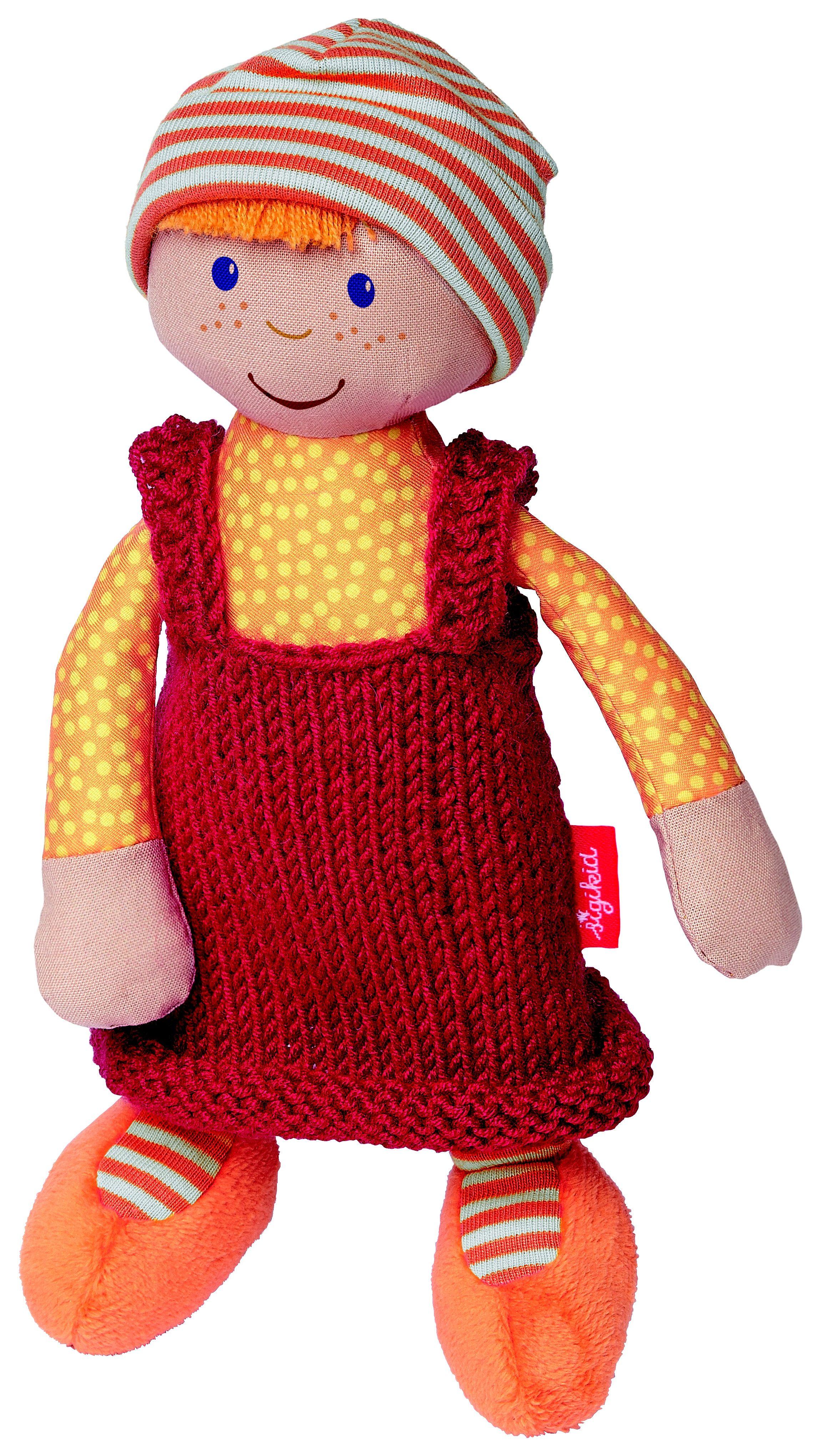 sigikid® Puppe mit Strickkleid, orange/rot, »Sigidolly - Meine erste Puppe«
