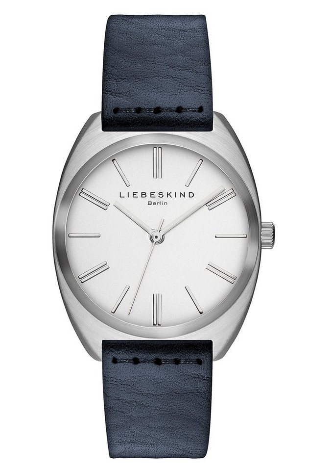 Liebeskind Berlin Armbanduhr, »VEGETABLE, LT-0026-LQ« in blau
