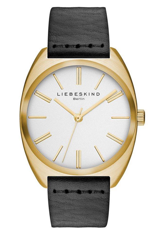 Liebeskind Berlin Armbanduhr, »VEGETABLE, LT-0021-LQ« in schwarz