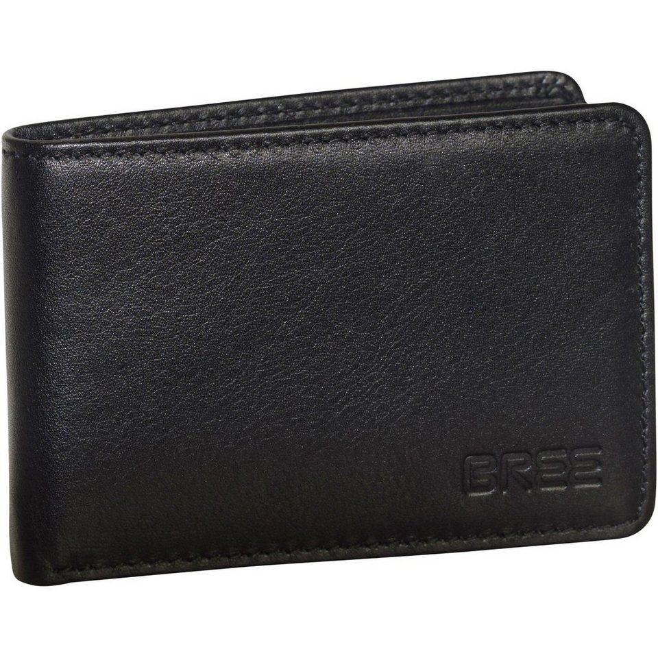 Bree Bree Pocket 102 Geldbörse Leder 10 cm in black soft