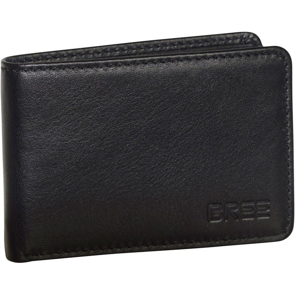 Bree Pocket 102 Geldbörse Leder 10 cm in black soft