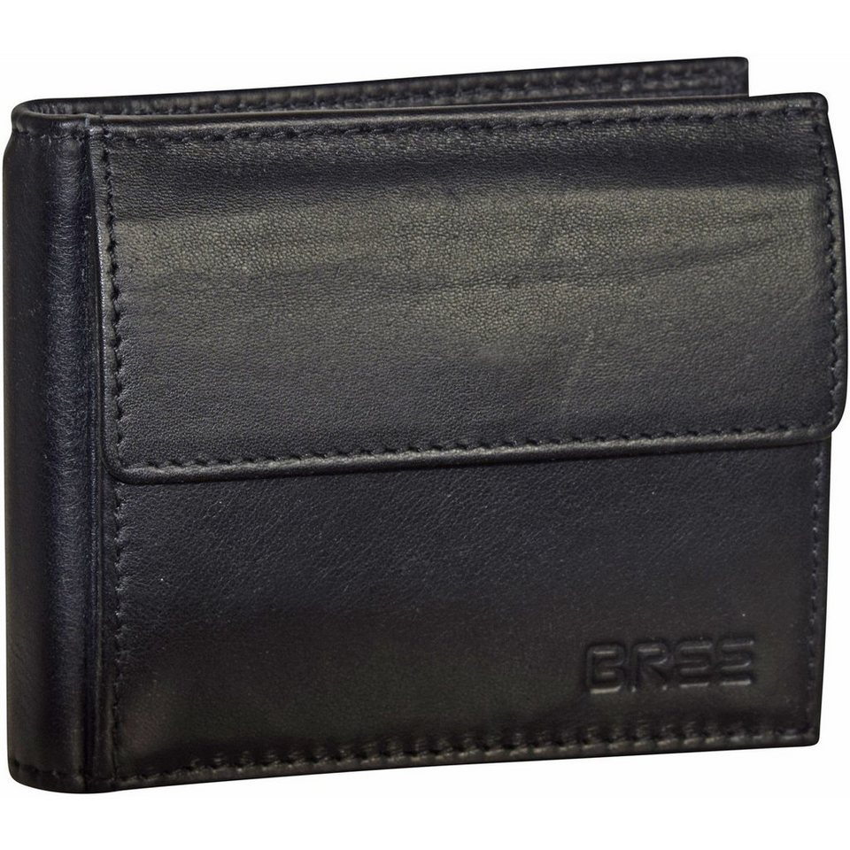 Bree Pocket 106 Geldbörse Leder 10 cm in black soft