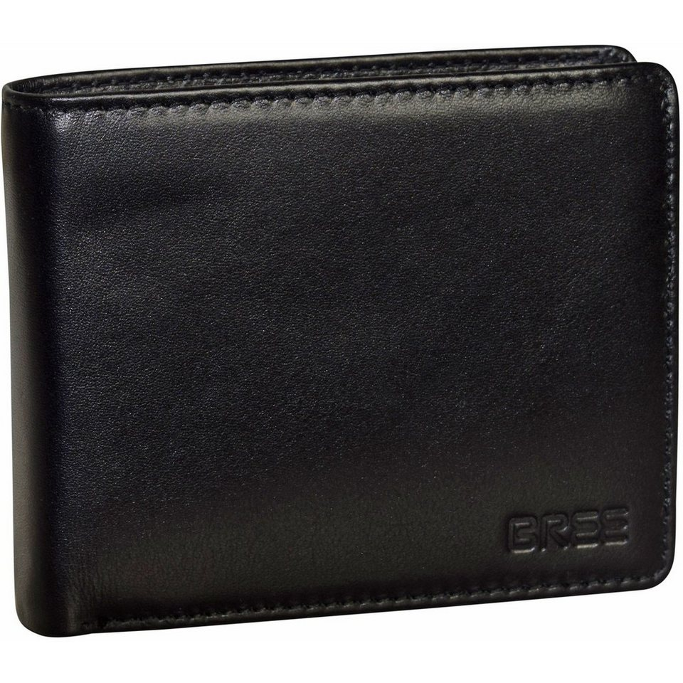 Bree Pocket 113 Geldbörse Leder 11,5 cm in black soft