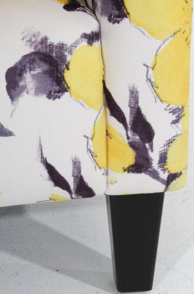 Max Winzer Hochlehner Ohrensessel »Mindi«, mit Blumenprint, eleganter Steppung