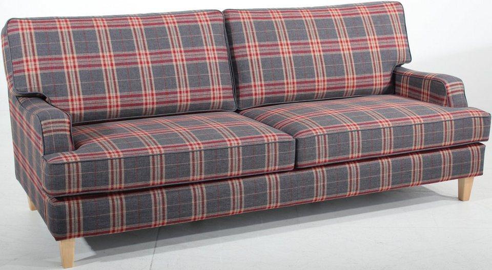 Max Winzer® 3-Sitzer Sofa »Penny«, in stylischem Karodesign in rot-grau-kariert