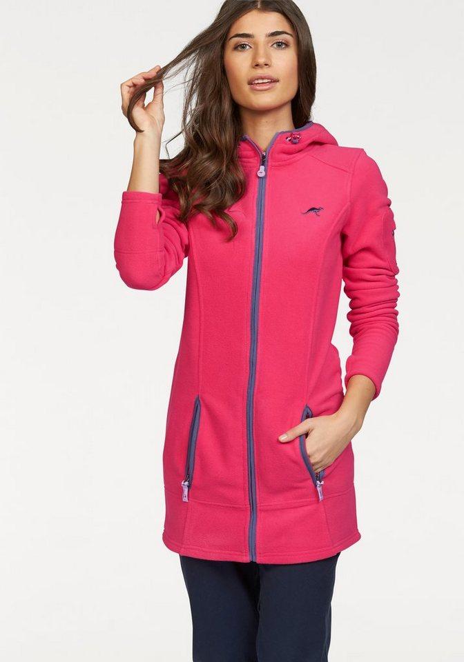 KangaROOS Fleecejacke mit kontrastfarbenen Details in pink