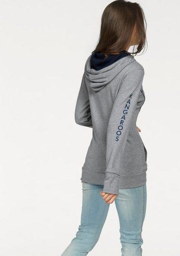 Sweat-shirt Kangourous, Avec Un Col Châle Décontracté
