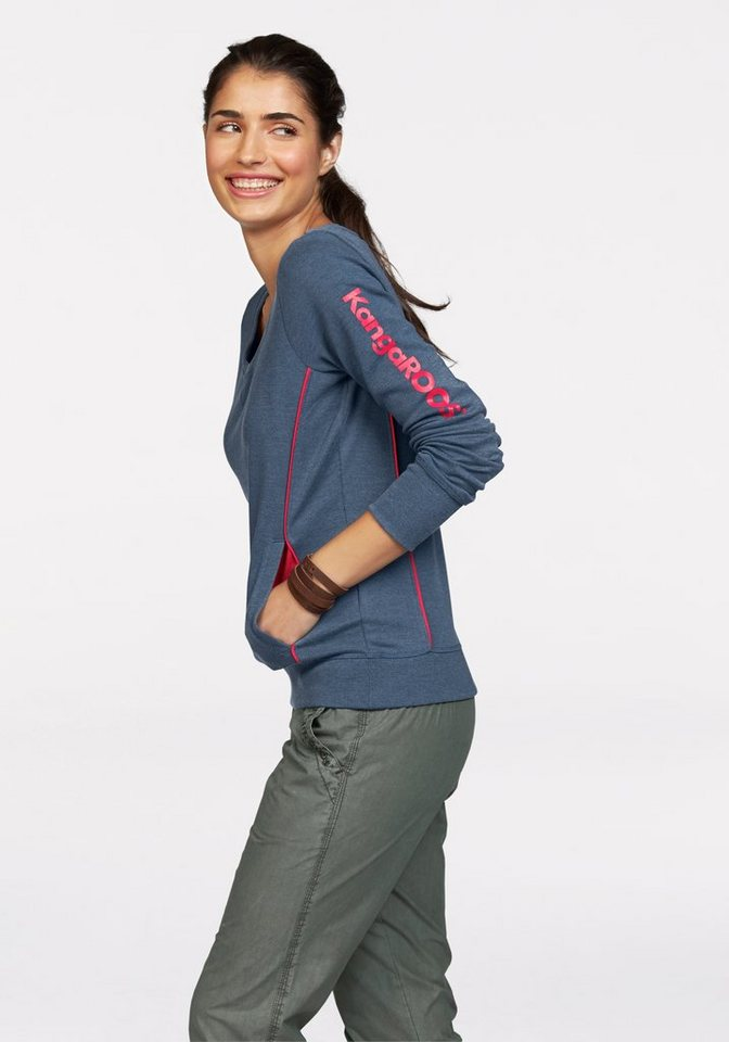 KangaROOS Sweatshirt in blau
