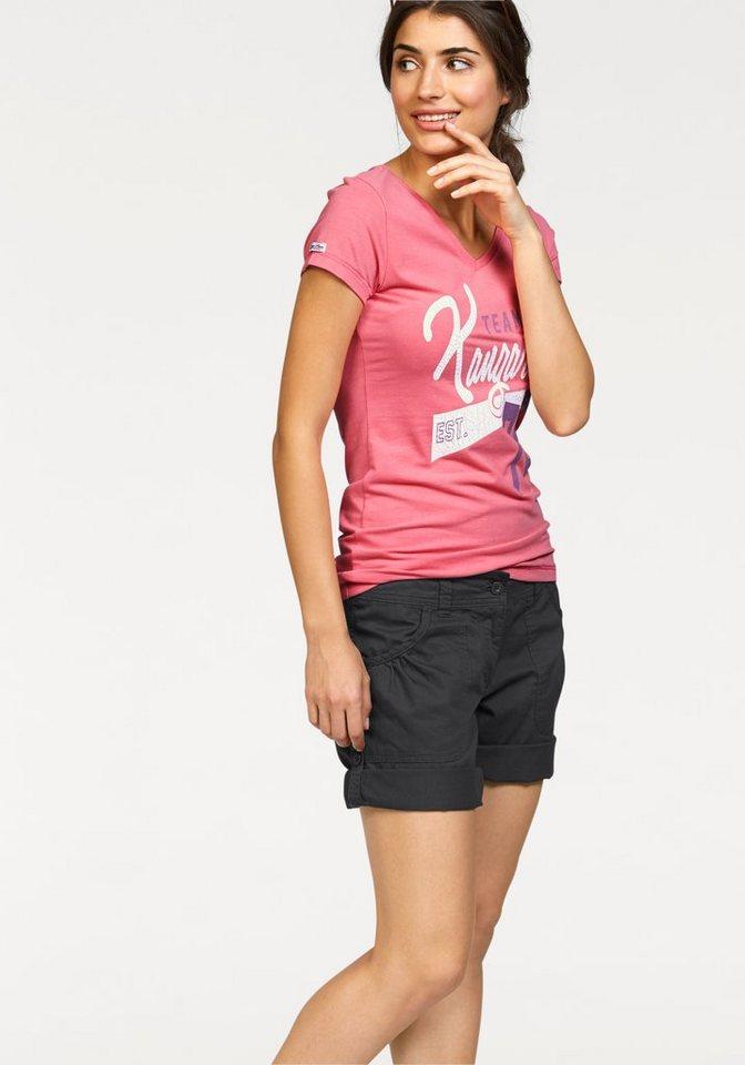 KangaROOS T-Shirt mit großem Frontprint in rosa