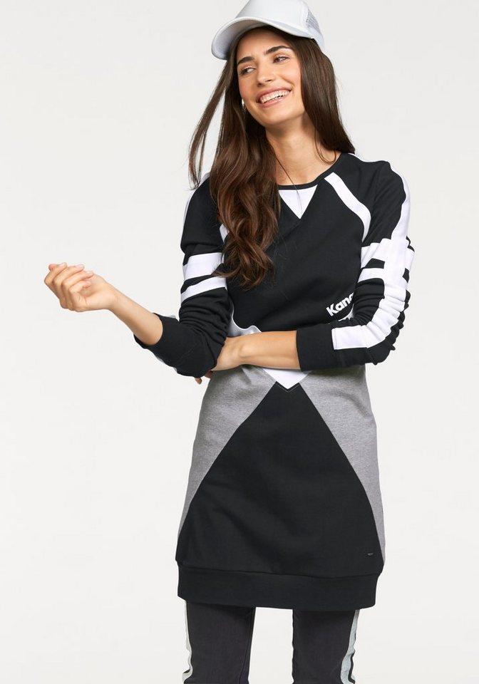 KangaROOS Longshirt im sportlichen College-Look in schwarz-grau-weiß