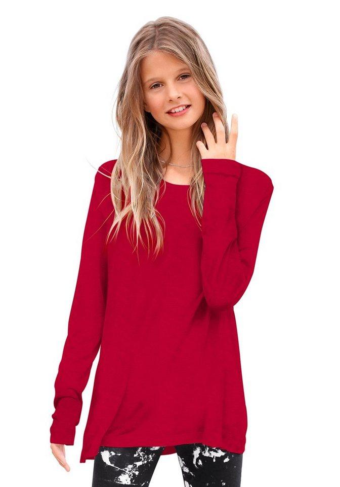 KIDSWORLD Longshirt, für Mädchen in Rot