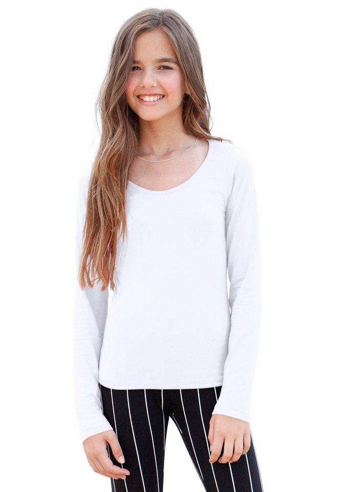 KIDSWORLD Langarmshirt in weiß