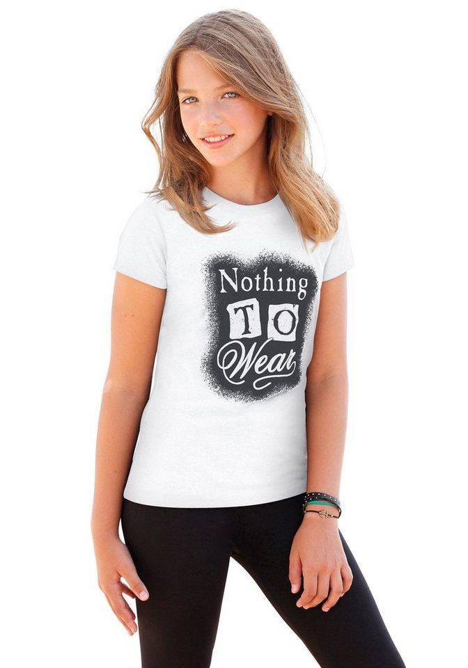 """KIDSWORLD T-Shirt """"NOTHING TO WEAR"""" in weiß"""