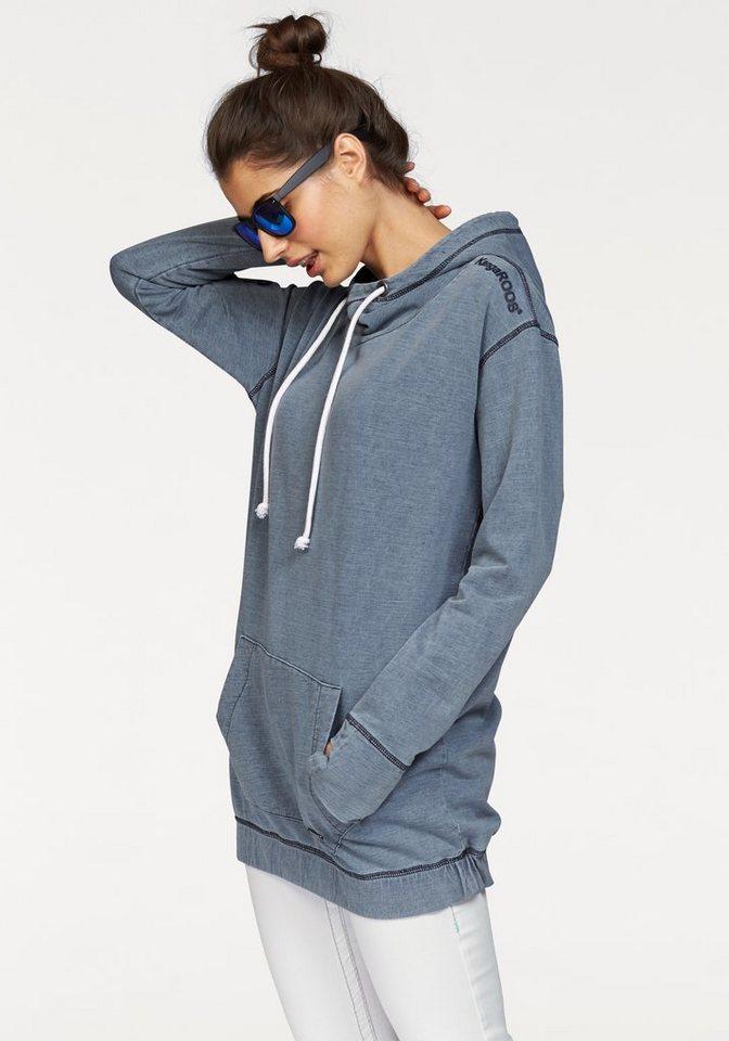 KangaROOS Kapuzensweatshirt im Denim-Look in weiß-denim-washed