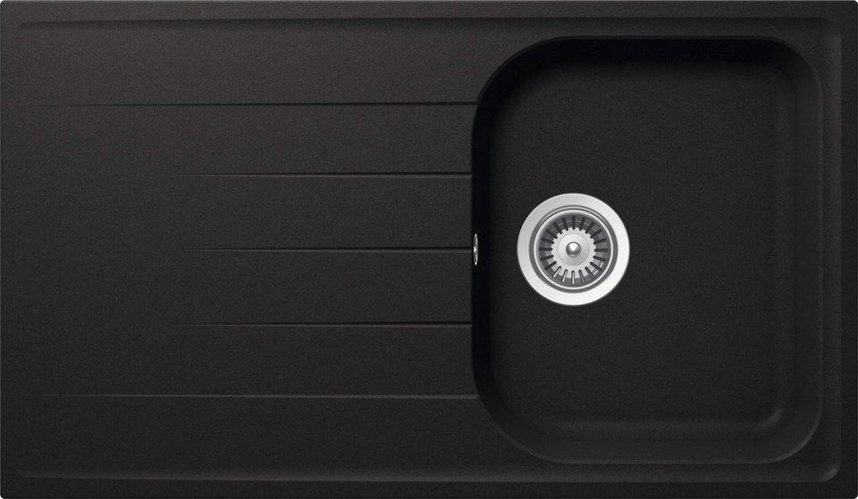 Domogranitspüle »Siena«, ohne Restebecken, 86x50 cm in schwarz