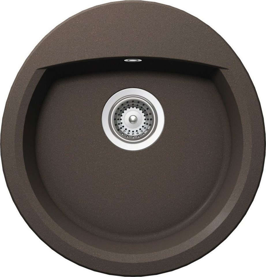 Domogranitspüle »Lucca R«, rund/oval, 47x49 cm in mocca