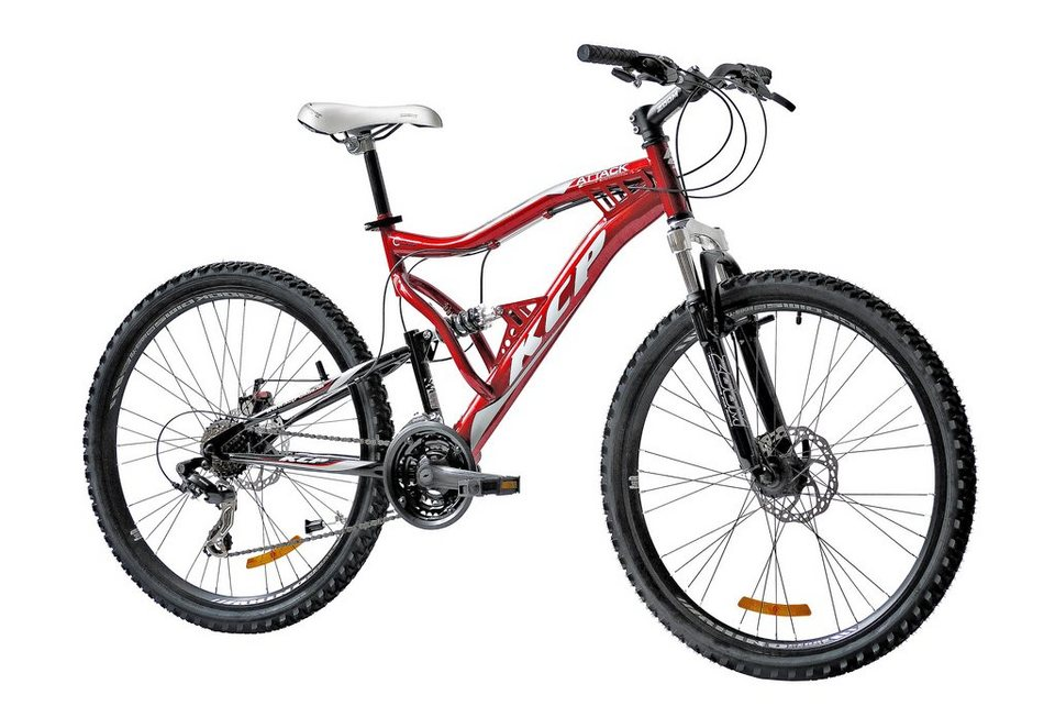 KCP Mountainbike »Attack«, 26 Zoll, 21 Gang, Scheibenbremsen in rot