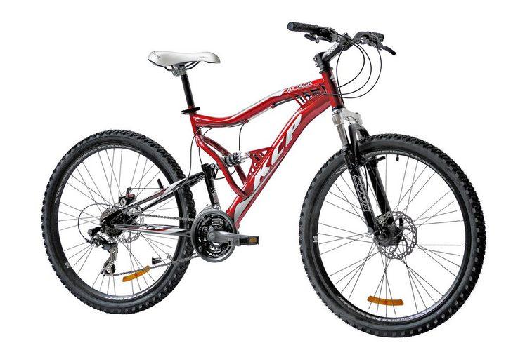 KCP Mountainbike »Attack«, 26 Zoll, 21 Gang, Scheibenbremsen