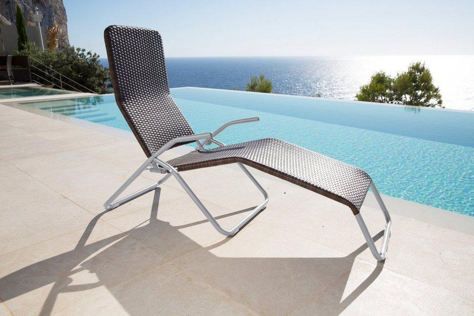 Gartenliege »Relaxliege XL«, Polyrattan, braun | OTTO