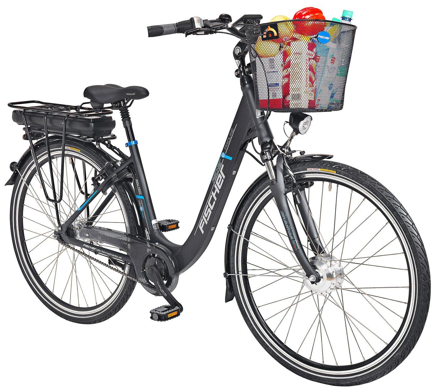 Fischer Fahrraeder E-Bike City Damen »ECU1401«, 28 Zoll, 7 Gang, Frontmotor, 522 Wh