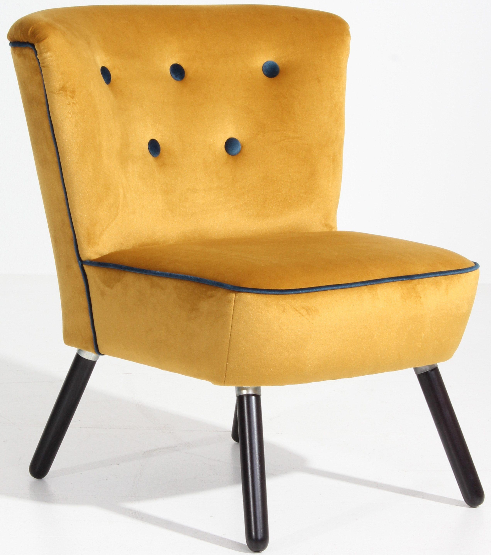 Max Winzer® Stuhlsessel »Finn« im Retrolook, mit farblich abgesetzten Zierknöpfen